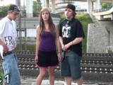 Awesome PUBLIC teens group street sex act orgy gangbang in broad daylight