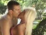 Amazingly tight Candy Lee fucked and jizzed on outdoors